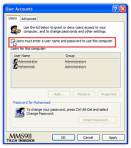 Allow Automatic Logon Through Advanced User Accounts Applet