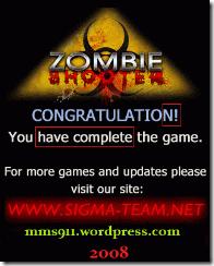 Congratulations Screen