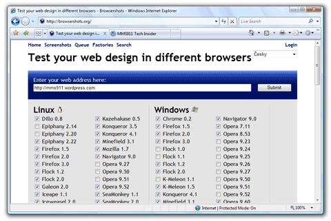Browsershots Web Service